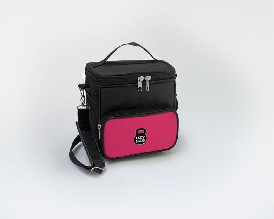 Bolsa Térmica Mid - Preto com Rosa Pink